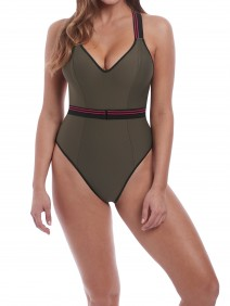 Club envy plunge suit cropped